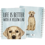 Dog Lover Life Is Better With A Yellow Lab Double Sided Spiral Notebook (120 Lined Pages) from Primitives by Kathy