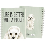 Dog Lover Life Is Better With A Poodle Double Sided Spiral Notebook (120 Lined Pages) from Primitives by Kathy