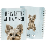 Dog Lover Life Is Better With A Yorkie Double Sided Spiral Notebook (120 Lined Pages) from Primitives by Kathy