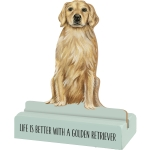 Dog Lover Life Is Better With A Golden Retriever Decorative Wooden Sign 3x4 from Primitives by Kathy