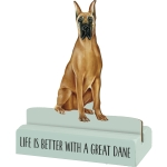 Dog Lover Life Is Better With A Great Dane Decorative Wooden Sign 3x4 from Primitives by Kathy