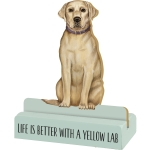 Dog Lover Life Is Better With A Yellow Lab Decorative Wooden Sign 3x4 from Primitives by Kathy
