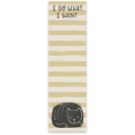 Cat Lover I Do What I Want Magnetic Paper List Notepad (60 Pages) from Primitives by Kathy