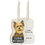 Dog Lover I Love My Yorkie Double Sided Wooden Hanging Christmas Tree Ornament from Primitives by Kathy