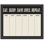 Nurse Appreciation Eat Sleep Save Lives Repeat Paper Notepad (60 Pages) from Primitives by Kathy