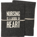 Nursing Is A Work Of Heart Canvas Journal (48 Unlined Pages) from Primitives by Kathy