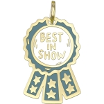 Best In Show Enamel Dog Collar Charm On Backer Card from Primitives by Kathy