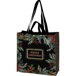 Holiday Greenery Merry Christmas Market Tote Bag from Primitives by Kathy