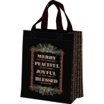 Christmas Greenery Merry Be Your Christmas Joyful Be Your Family Daily Tote Bag from Primitives by Kathy