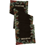 Holiday Greenery Design Christmas Believe Decorative Cotton Table Runner Cloth 56x15 from Primitives by Kathy