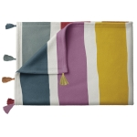 Rainbow Stripe Design Decorative Cotton Throw Blanket 50x60 from Primitives by Kathy