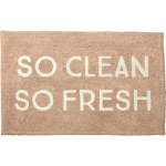 Plush Pink So Clean So Fresh Cotton Bath Mat Rug 32x20 from Primitives by Kathy