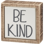 Mini Be Kind from Hand Lettered Design Decorative Wooden Box Sign 3x3 Primitives by Kathy