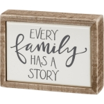 Every Family Has A Story Decorative Mini Wooden Box Sign 4x3 from Primitives by Kathy