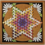 Woodburn Design Chinese Checkers Wall Game Sign 16x16 from Primitives by Kathy
