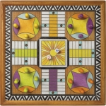 Wood Burn Design Wooden Parcheesi Wall Game 16x16 from Primitives by Kathy