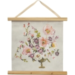 Watercolor Floral Vase Design Decorative Canvas Wall Décor Hanging Sign 17x16 from Primitives by Kathy