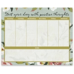 Floral Design Start Your Day With Positive Thoughts Large Paper Notepad Planner (60 Pages) from Primitives by Kathy