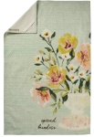 Watercolor Floral Design Spread Kindness Cotton Kitchen Dish Towel 18x28 from Primitives by Kathy