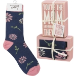 You're The Mom Everyone Wishes They Had Decorative Box Sign & Sock Set from Primitives by Kathy