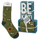 Be Kind Decorative Wooden Box Sign & Sock Set from Primitives by Kathy