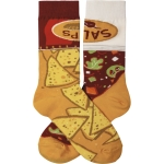 Chips & Salsa Colorfully Printed Cotton Socks from Primitives by Kathy