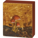 Wild Mushrooms Design Decorative Wall Décor Sign 4.5 Inch x 5.25 Inch from Primitives by Kathy