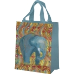 Double Sided Elephant Print Design Daily Tote Bag from Primitives by Kathy