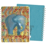 Colorful Elephant Print Design Spiral Notebook (120 Pages) from Primitives by Kathy