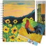 Colorful Farm Animals Themed Notebook & Stationery Set from Primitives by Kathy