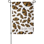 Butterfly Print Design Be You Tiful Decorative Garden Flag 12x18 from Primitives by Kathy