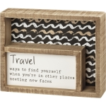 Travel Ways To Find Yourself Decorative Double Inset Wooden Box Sign 7.5 Inch x 6 Inch from Primitives by Kathy