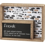 Friends Got Each Other's Backs Decorative Double Inset Wooden Box Sign 9 Inch x 7.5 Inch from Primitives by Kathy