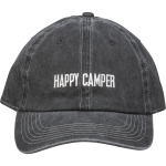 Happy Camper Charcoal & White Cotton Baseball Cap from Primitives by Kathy