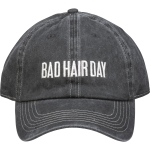Bad Hair Day Charcoal & White Cotton Baseball Cap from Primitives by Kathy