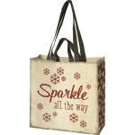 Holiday Themed Snowflake Design Sparkle All The Way Market Tote Bag from Primitives by Kathy