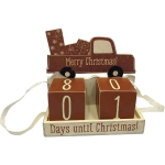 Merry Christmas Truck With Presents Days Until Christmas Block Countdown Sign from Primitives by Kathy