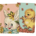Set of 2 Small Notebooks Hello Spring 64 Pages (Bunny Rabbit & Duckling) from Primitives by Kathy