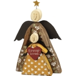 Double Angels Forever Loved Wooden Figurine 5.75 Inch x 8 Inch from Primitives by Kathy