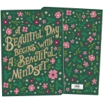 Floral Design A Beautiful Day Begins With A Beautiful Mindset Journal Notebook (160 Pages) from Primitives by Kathy