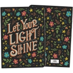 Colorful Floral Print Design Let Your Light Shine Journal Notebook (160 Lined Pages) from Primitives by Kathy
