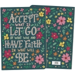 Colorful Floral Print Design Accept What Is Have Faith In What Will Be Journal Notebook from Primitives by Kathy