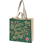 Floral Print Design A Beautiful Day Begins With A Beautiful Mindset Market Tote Bag from Primitives by Kathy