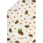 Strawberry Print Design I Love You Berry Much Cotton Kitchen Dish Towel 18x28 from Primitives by Kathy