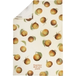 All Over Peach Print Practice What You Peach Cotton Kitchen Dish Towel 18x28 from Primitives by Kathy