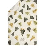 Grape Print Design I'm So Grape-ful For You Cotton Kitchen Dish Towel 18x28 from Primitives by Kathy