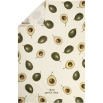 Avocado Print Design 'Avo Good Day Cotton Kitchen Dish Towel 18x28 from Primitives by Kathy