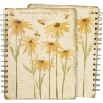 Flower & Bee Design Find Bee-uty In Every Day Spiral Notebook (120 Lined Pages) from Primitives by Kathy