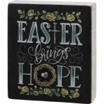 Chalk Art Design Easter Brings Hope Decorative Wooden Box Sign 6x7 from Primitives by Kathy