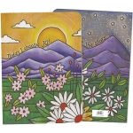Colorful Flower Field & Mountains Design Today I Choose Joy Journal Notebook (160 Pages) from Primitives by Kathy